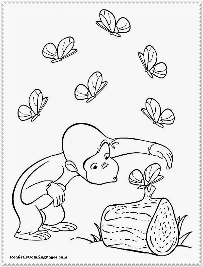 curious george coloring pages printable free
