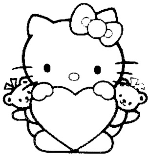 hello kitty heart coloring pages 7 com