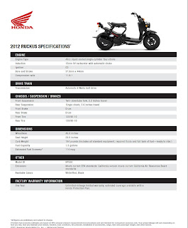 The Fun Pages Motorcycle Blog: 2013 Ruckus In Stock by End ...