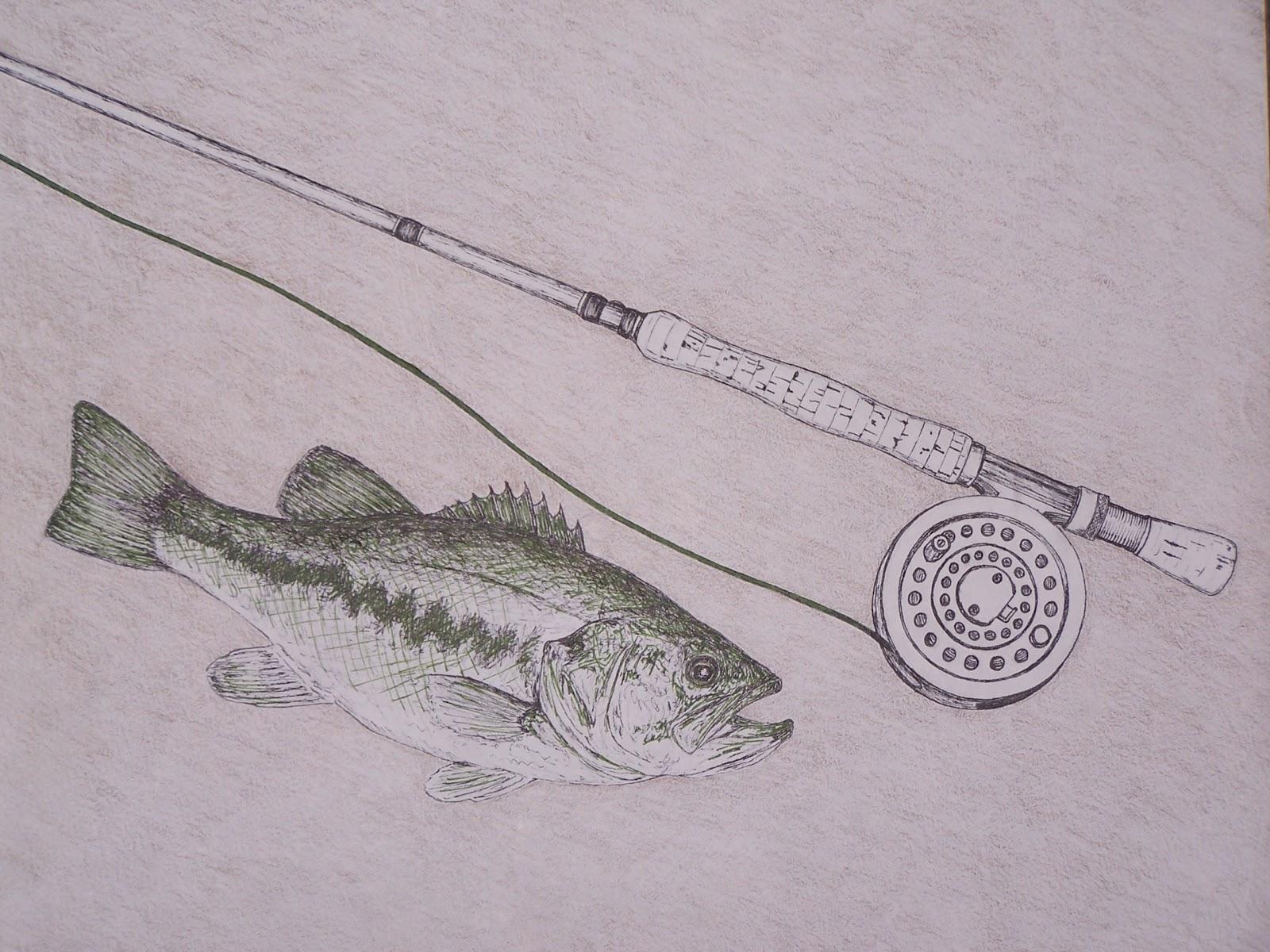 fishing rod sketch - photo #39