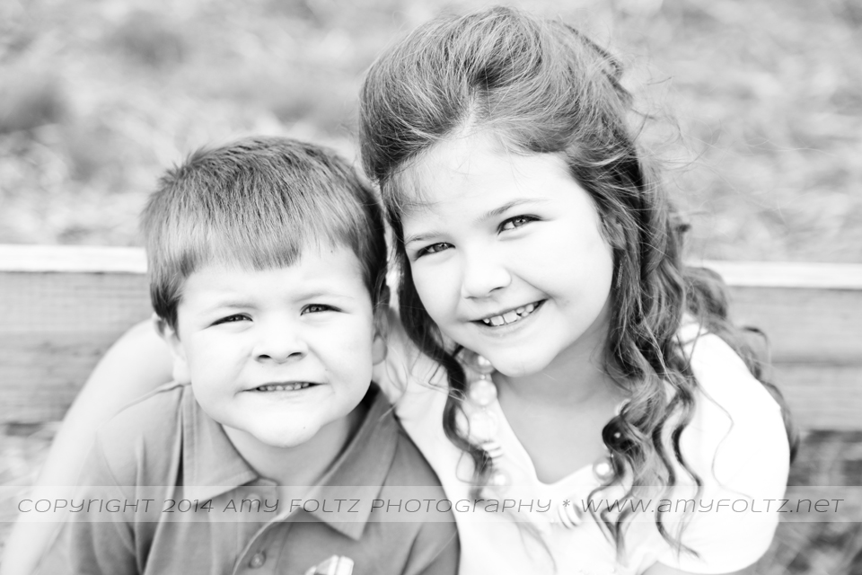 black and white photo of siblings - Terre Haute photographer