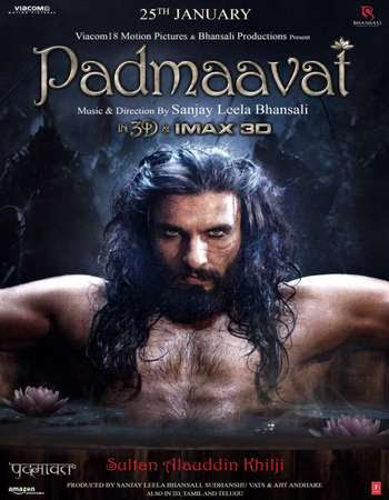 Poster Of Hindi Movie Padmaavat 2017 Full FHD Movie Free Download 1080P Watch Online