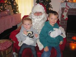 Evie & Sean with Santa at Huckleberry Railroad