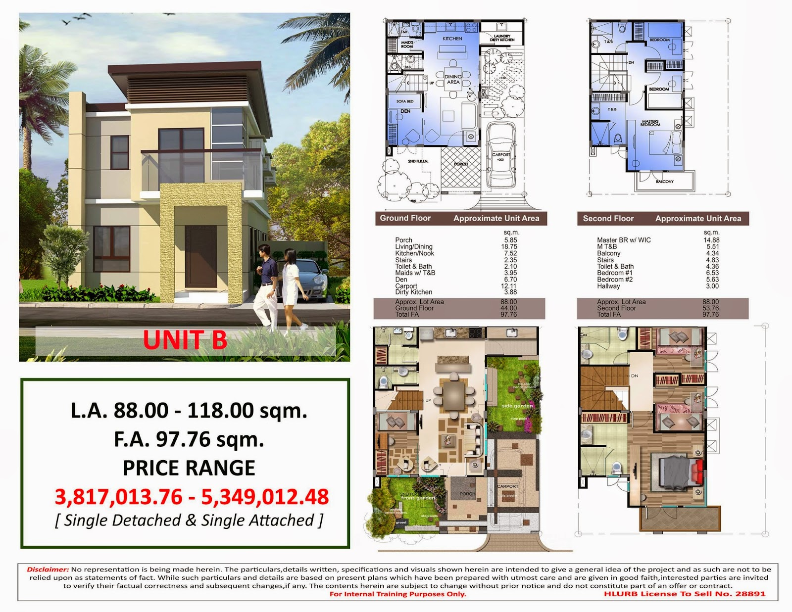 Noble hills in anabu ii d imus city cavite for Camella homes design with floor plan