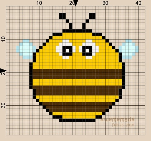 Perler Beads Creation No.16: Chubby Bee in Round Design Collection