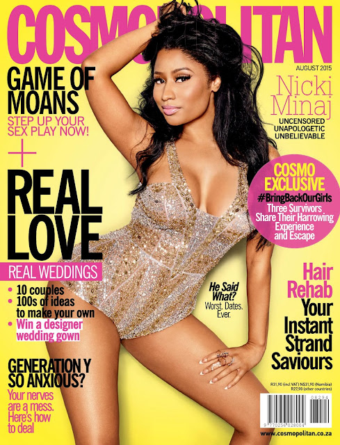 Rapper, Singer @ Nicki Minaj - Cosmopolitan South Africa, August 2015