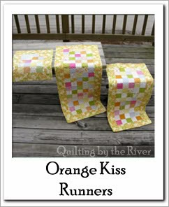 Orange Kissed Table Runners Free Tutorial at Freemotion by the River
