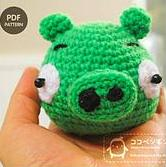 Amigurumi Green Pig : Free Amigurumi Patterns: Angry Birds - Green Pig
