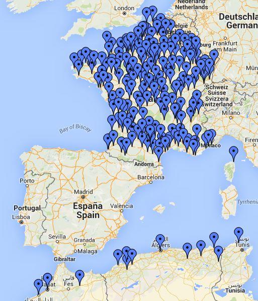 Une carte vous attend tout en bas du blog.