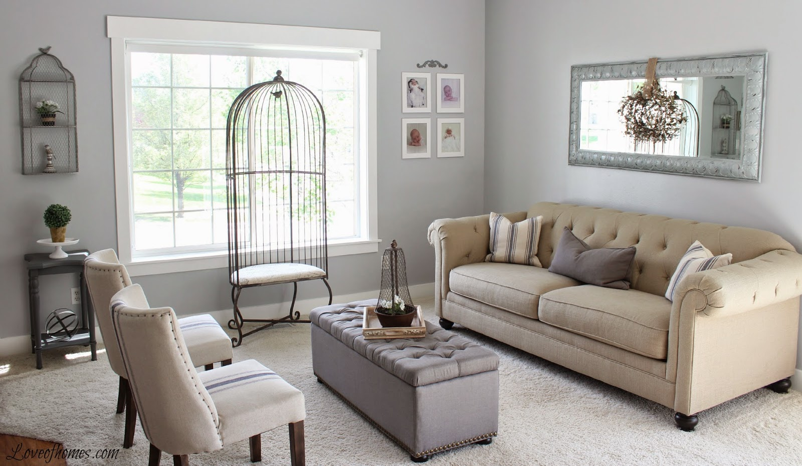 Love of homes living room reveal for Grey paint living room
