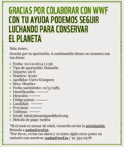 WWF donación plan amigo solidario