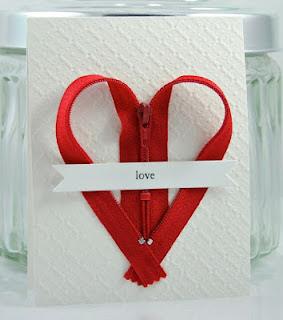 dia dos namorados - cartão com zíper de coração