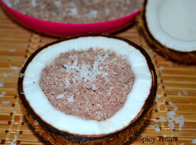 Spicy Treats: Red Rice Puttu / Red Rice Flour Puttu Red Rice Flour