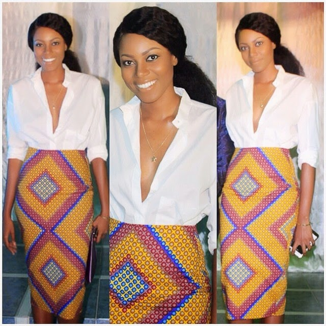 Ghanaian Actress, Yvonne Nelson Is Cool And Sexy In African Prints Skirt – Photos