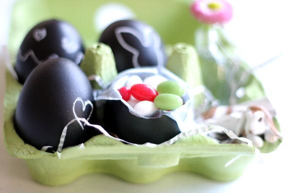 Oster Deko: DIY Kreide Eier - Chalk Eggs