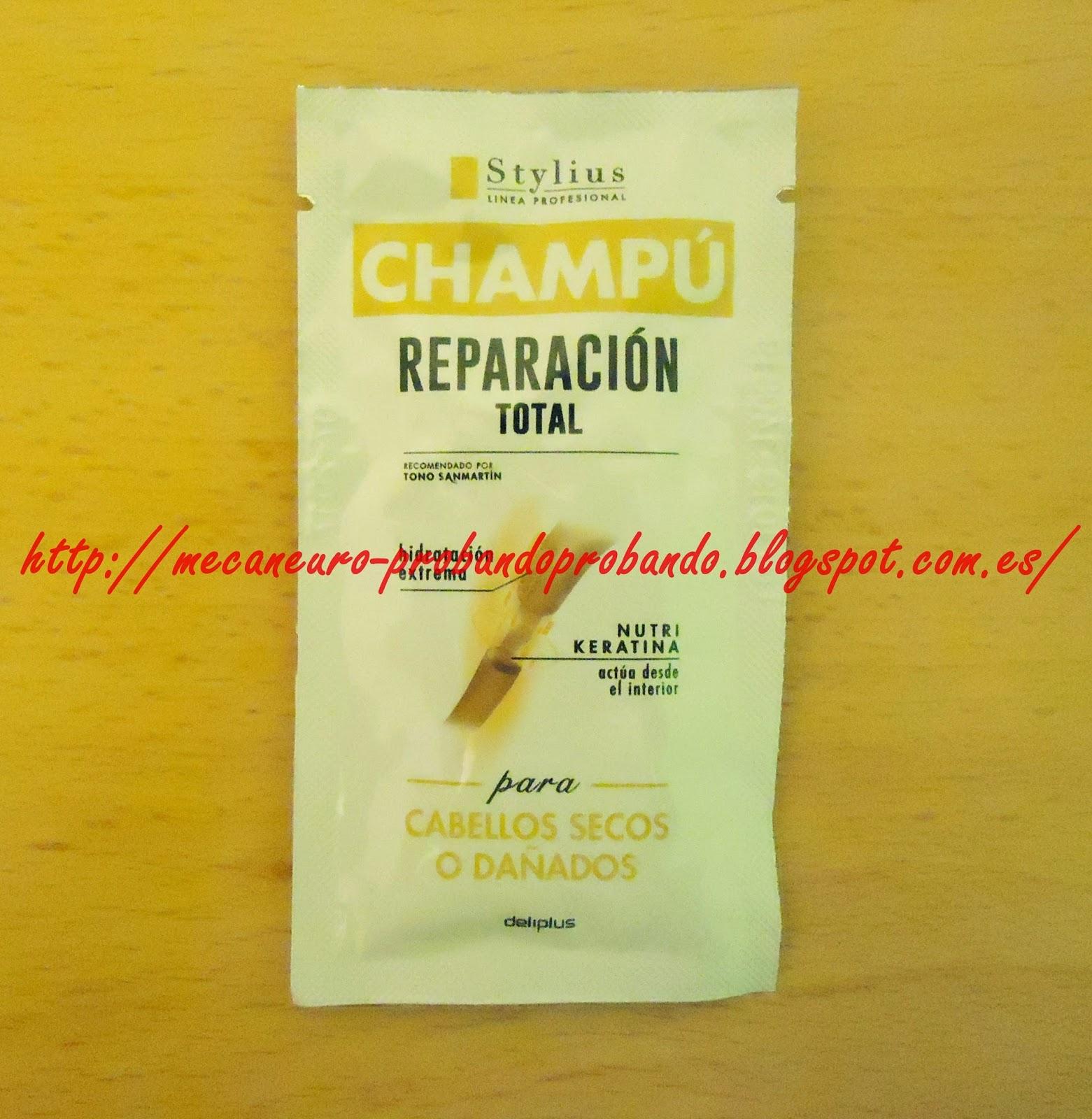 Muestra del producto Champú Reparación, Stylius