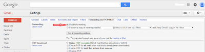 cara auto forward di gmail lewat setting