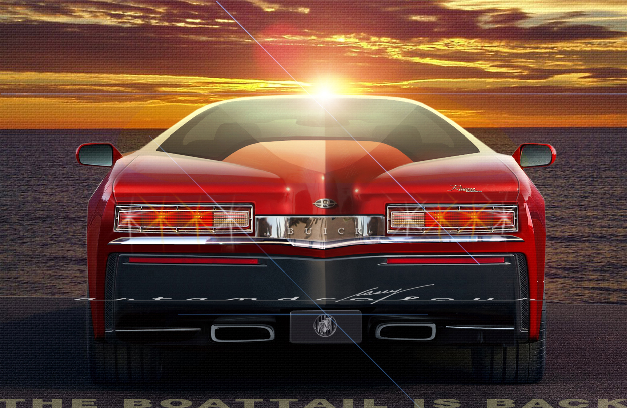 casey/artandcolour/cars: 2014 Buick Riviera—The Boattail is B-A-C-K!