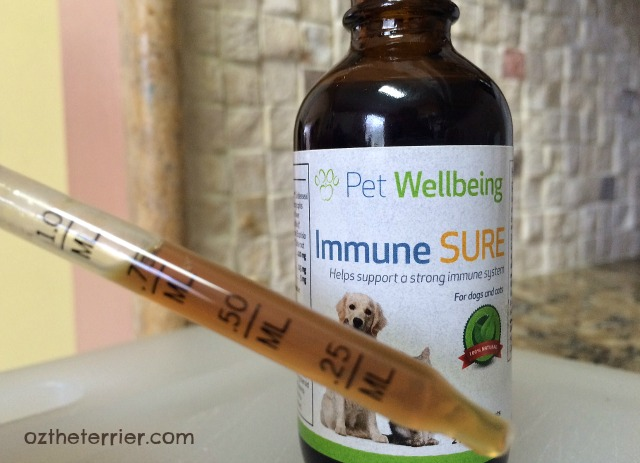 Immune SURE by Pet Wellbeing is easy to dispense with measured dropper