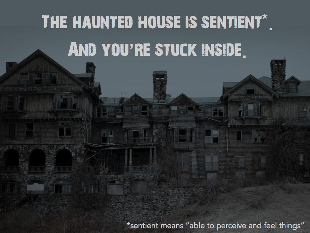 description of a haunted house essay Haunted house essays here we've compiled a list matching the top essays in our database against  haunted house essays  whether your project or assignment is for school, personal use or business purposes our team works hard in providing 100% royalty free essay samples across many different topics.