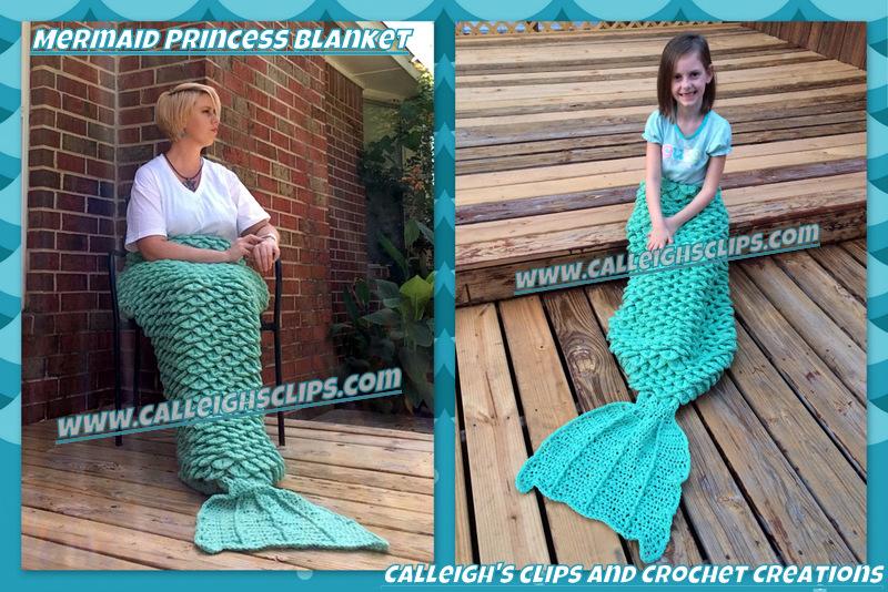 Calleigh's Clips Crochet Creations Crochet Mermaid Blanket In New Best Free Mermaid Crochet Pattern