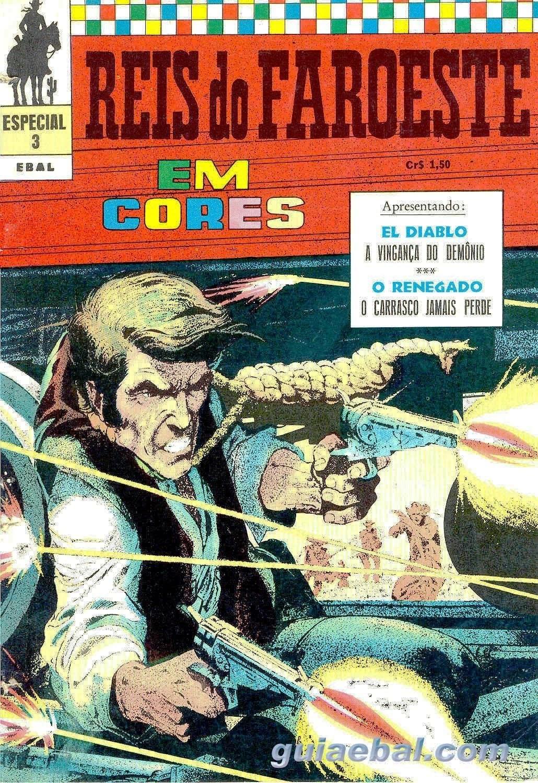 REIS DO FAROESTE CORES Nº 003 1972 EL DIABLO - A VINGANÇA DO DEMÔNIO