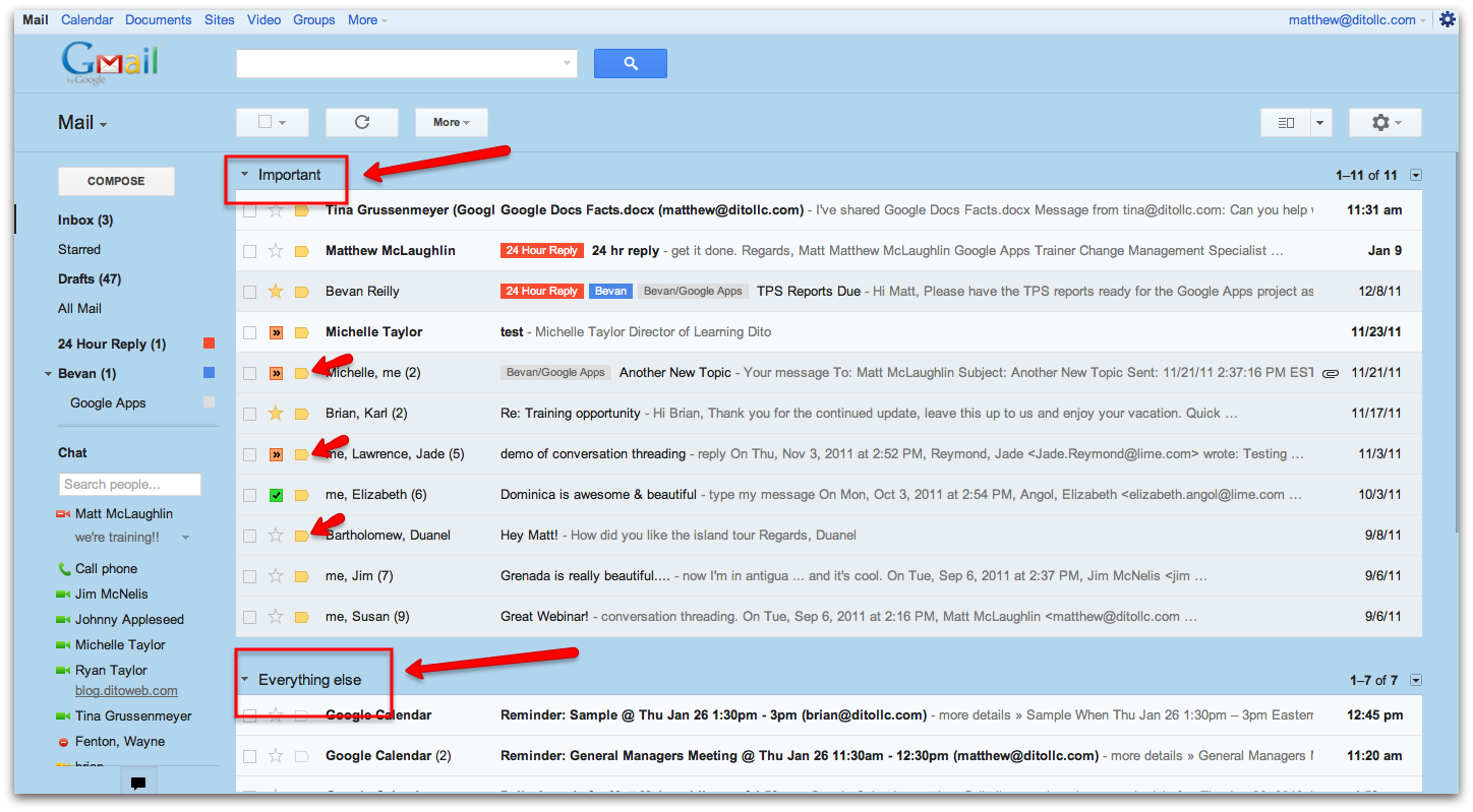 how to find unread messages in gmail