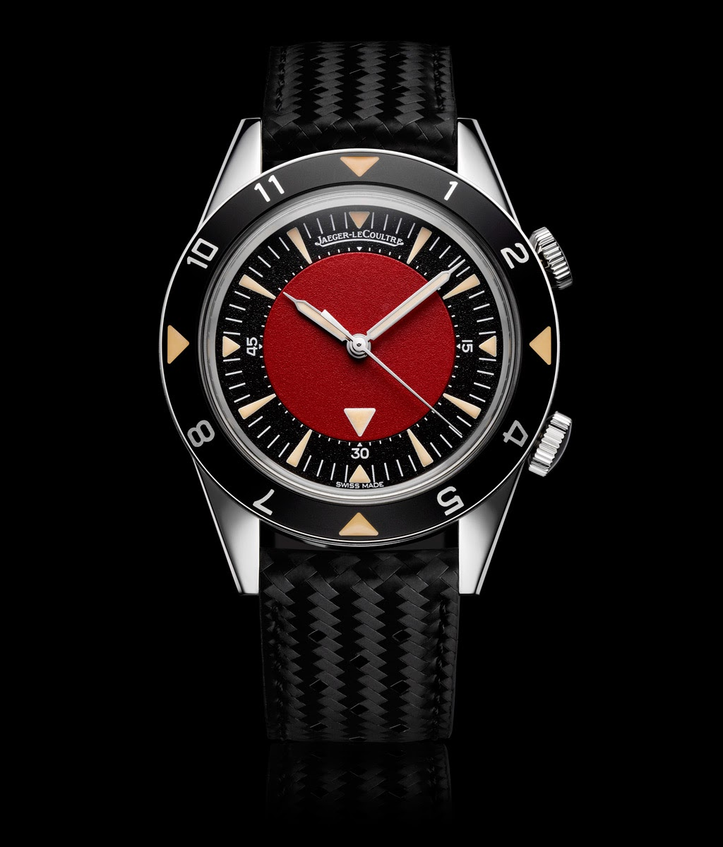 jaeger lecoultre memovox tribute to deep sea special version for 2013 red auction time. Black Bedroom Furniture Sets. Home Design Ideas
