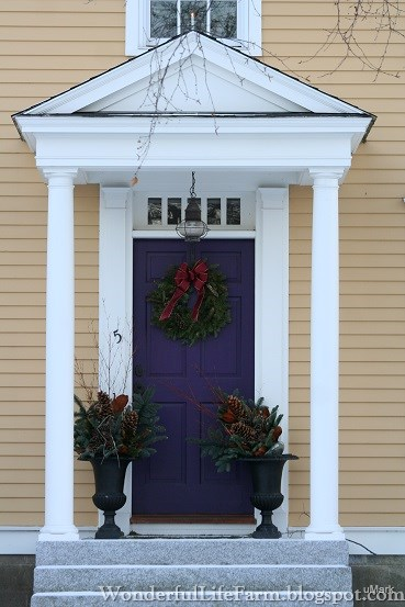 Genial For Now, I Thought Youu0027d Enjoy Seeing Some Christmas Front Doors Here In New  England...pictures I Snapped Last Winter. Enjoy!