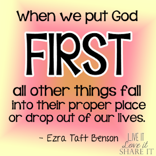 When we put God first, all other things fall into their proper place or drop out of our lives. - Ezra Taft Benson