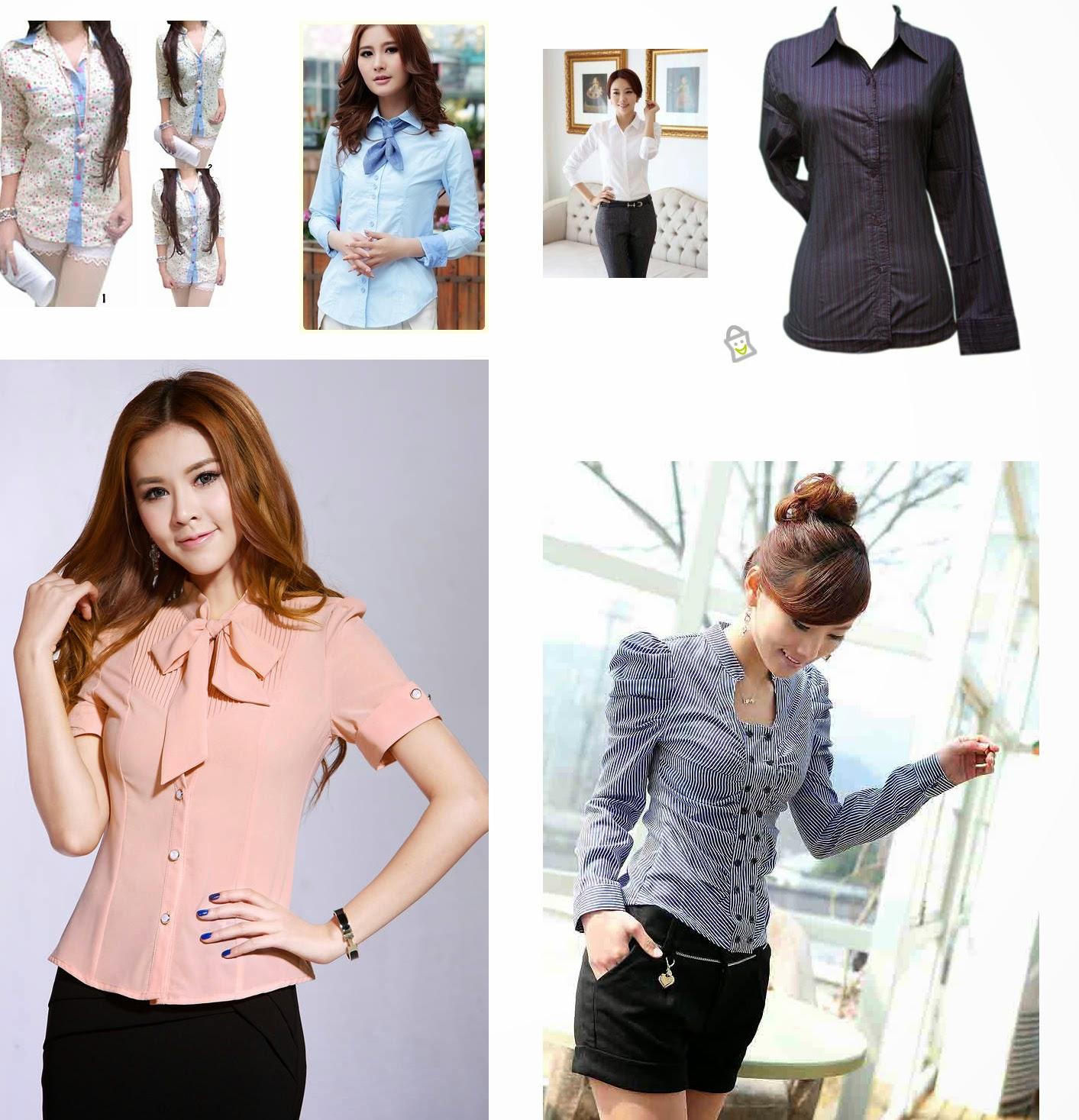 model kemeja wanita modern