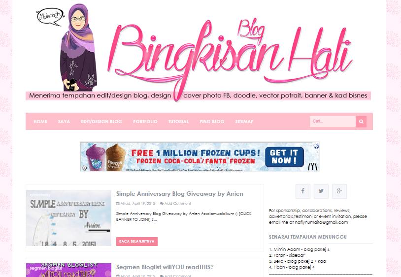 Template baru Blog Bingkisan Hati
