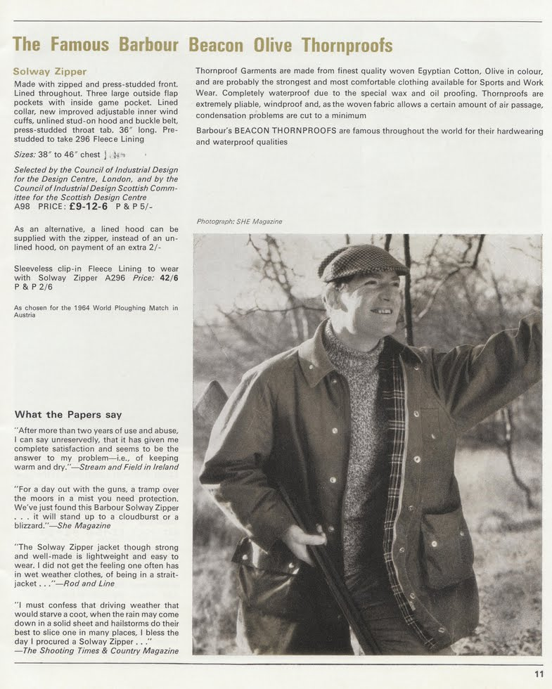 Shopping from the Past: Barbour Solway Jacket | Archival Blog