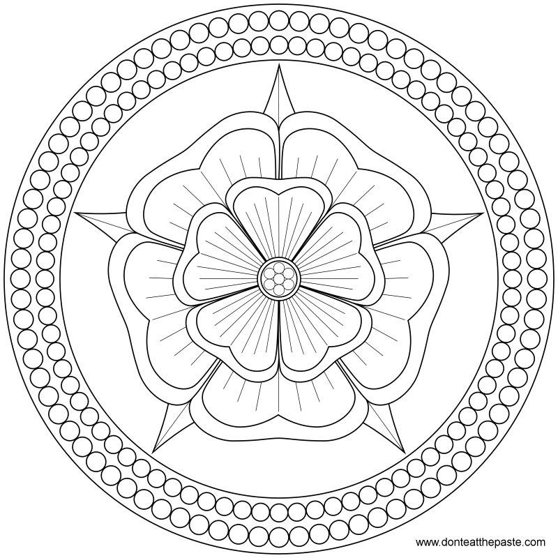 rose and pearls mandala