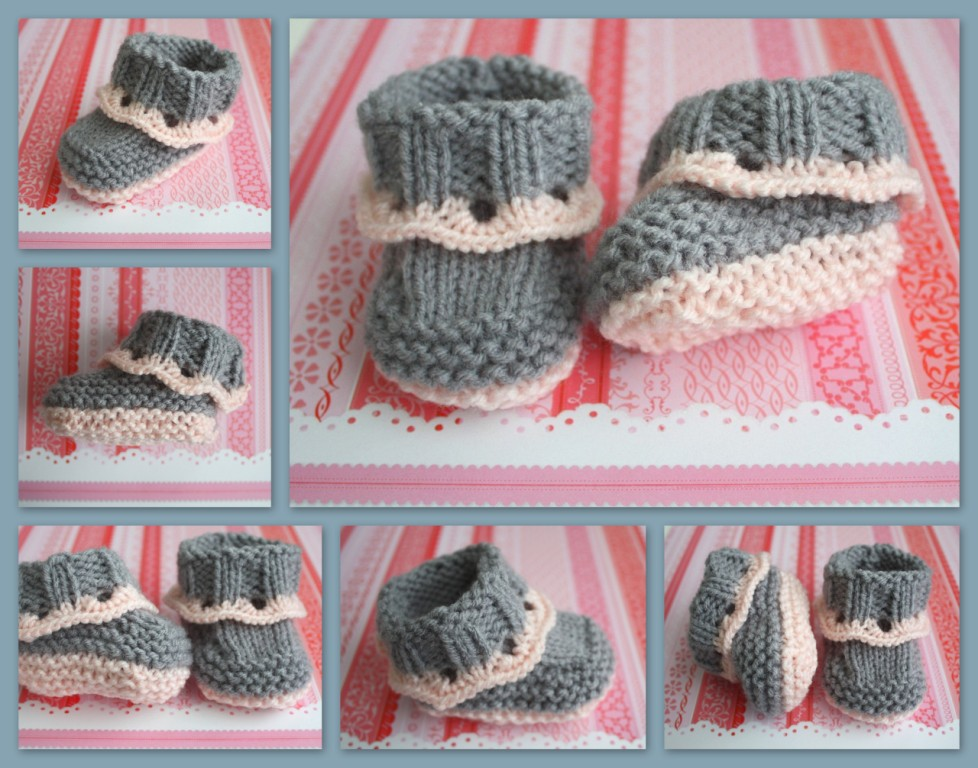 The Createry Shop: Easy Baby Booties - Sweet Eyelet Booties Knitting ...