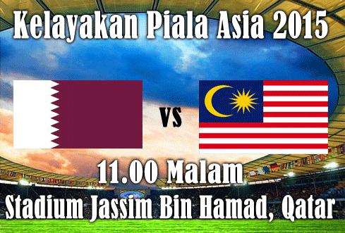 Keputusan Malaysia vs Qatar Kelayakan Piala Asia 2015