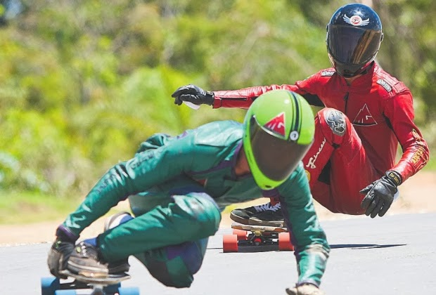 Mundial de skate downhill tem final em Santa Luzia
