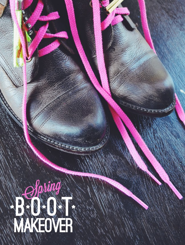 DIY: Simple Spring Lace Up Akron Boot Makeover