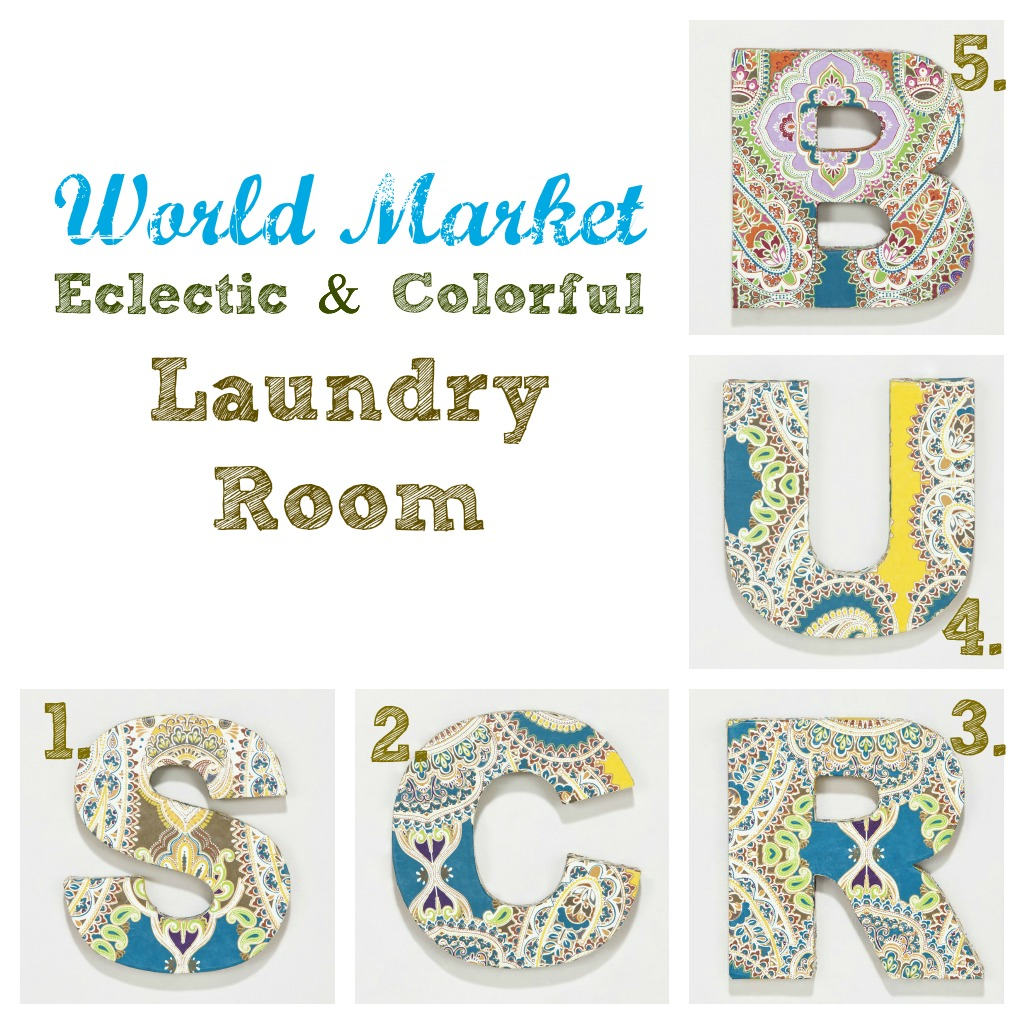 This Girl's Life: {Eclectic & Colorful Laundry Room with World Market
