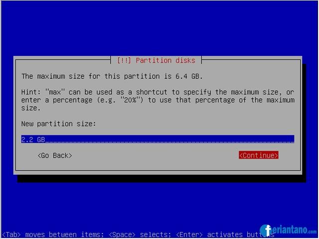 Cara Install Debian 5 Lenny Berbasis Text (CLI) Lengkap Dengan Gambar - Feriantano.com