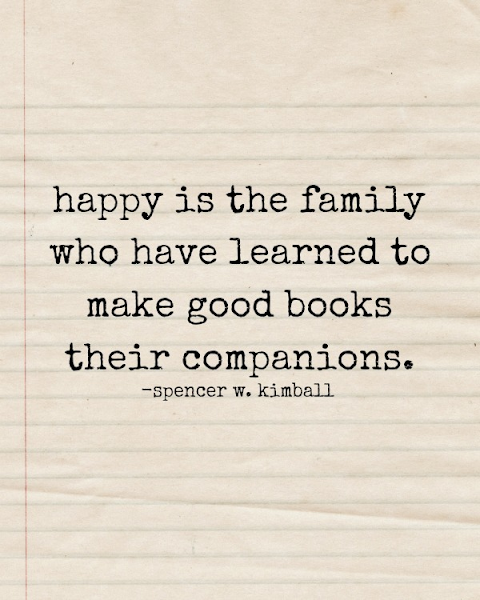 Happy Is The Family Who Makes Good Books Their Companions {Printable} @ Blissful Roots