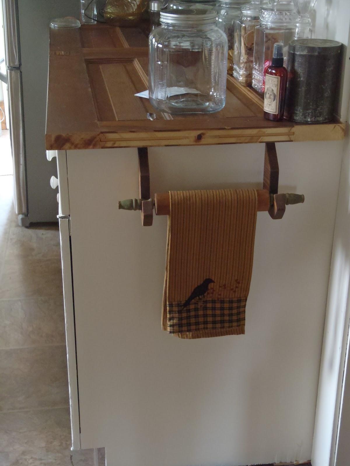 Kitchen Towel Bar Over Cabinet