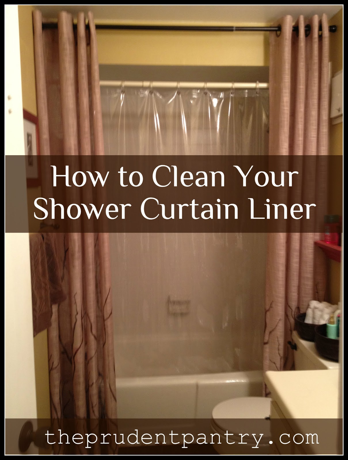 the prudent pantry how to clean your shower curtain liner