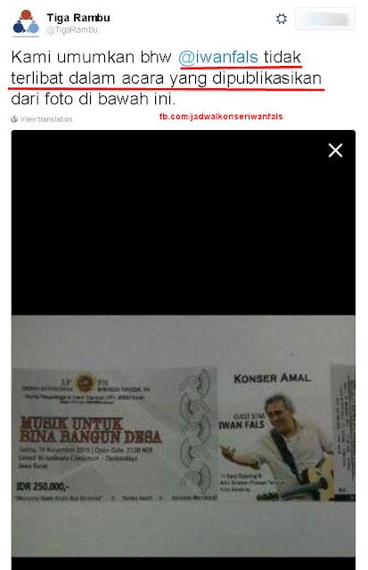 Konser Amal Iwan Fals di Tasik