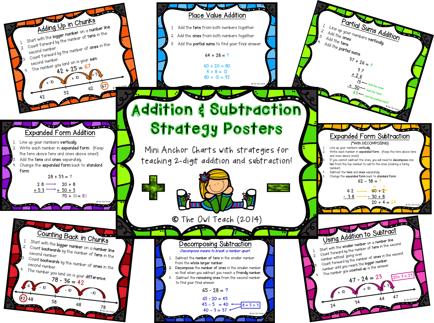 The Owl Teach: All About Addition and Subtraction