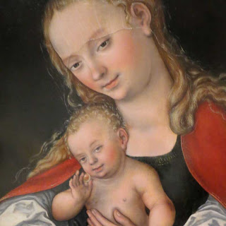 Close up of madonna and child