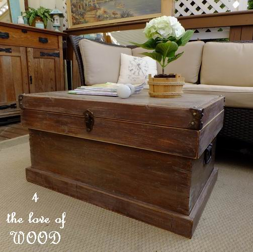 The Love Of Wood RUSTIC BOX TURNED COFFEE TABLE Pottery Barn - Pottery barn chest coffee table