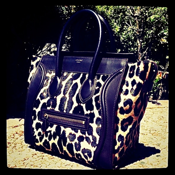 celine bag knockoff - The Celine Mini Luggage Tote in Ponyhair Leopard Print! | The Bag ...