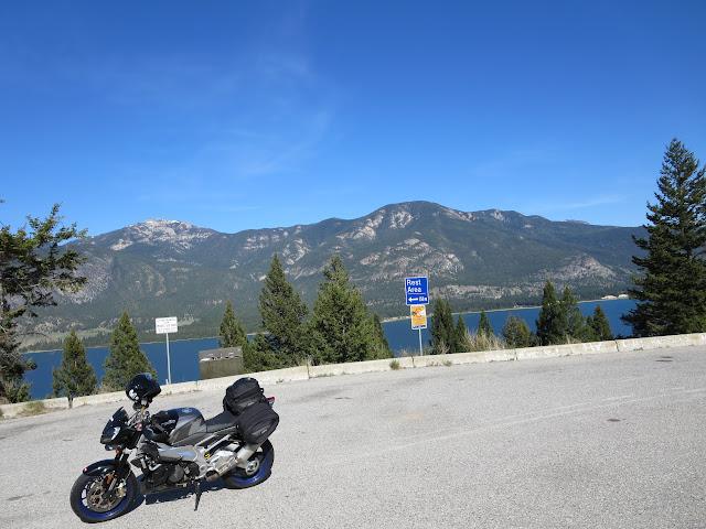 Aprilia Tuono Columbia Lake