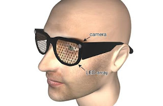 image of a person wearing bionic glasses.